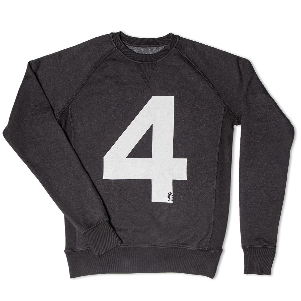 &SONS | Lucky No.4 American Sweatshirt | Vintage College Sweatshirt | Black