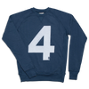 &SONS | Lucky No.4 American Sweatshirt | Vintage College Sweatshirt | Indigo