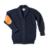 Pioneer II British Wool Cardigan | &SONS | Woollen Cardigan | Navy