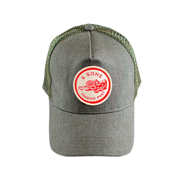 Trucker Badge Cap &SONS TPBCG-01 Caps & Hats One Size / Army Green