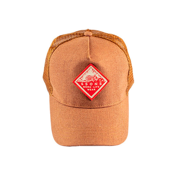 Trucker Badge Cap &SONS TPBCT-01 Caps & Hats One Size / Rust Tan
