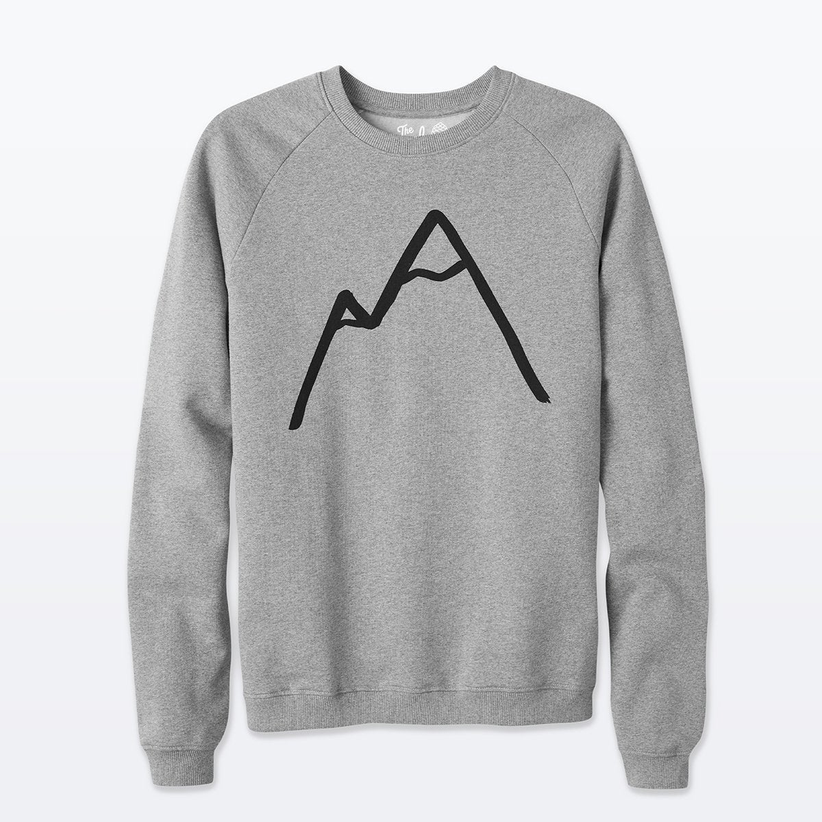 The Level Collective | Simple Mountain Sweatshirt | Cotton Jumper | Grey