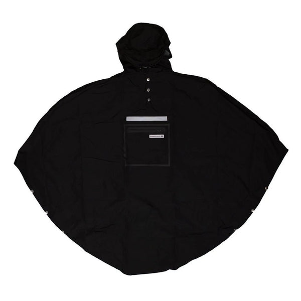 The People's Poncho, Hardy Poncho 3.0, Festival Rain Poncho, Waterproof lightweight cycling poncho - black
