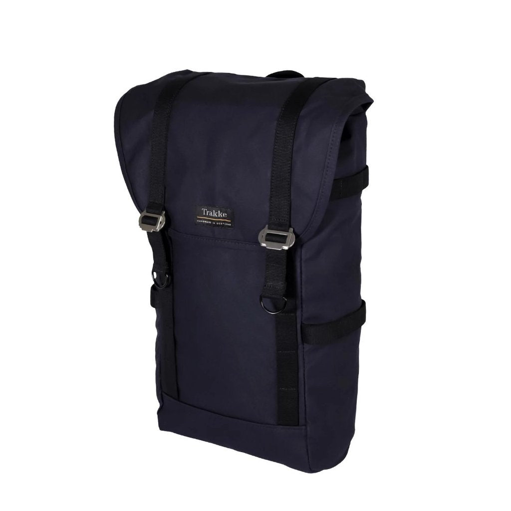 Trakke | NEW Assynt Backpack | Waxed Canvas Backpack | Laptop Rucksack | Navy