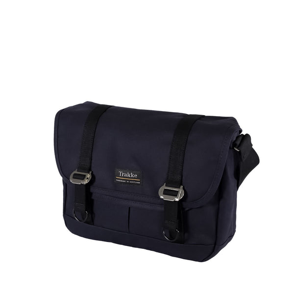 Trakke | NEW Bairn Messenger Bag | Waxed Canvas Laptop Messenger Bag - Navy