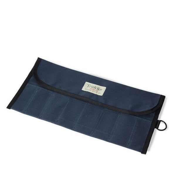 Trakke | Gask | Waxed Canvas Tool Roll | Bike Tool Pouch | Navy