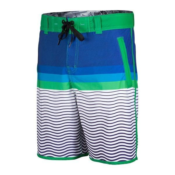 tshOtsh Mens Finistere Green Board Shorts front