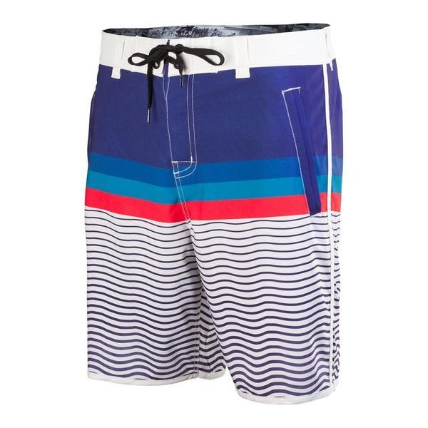 Finistere White Board Shorts