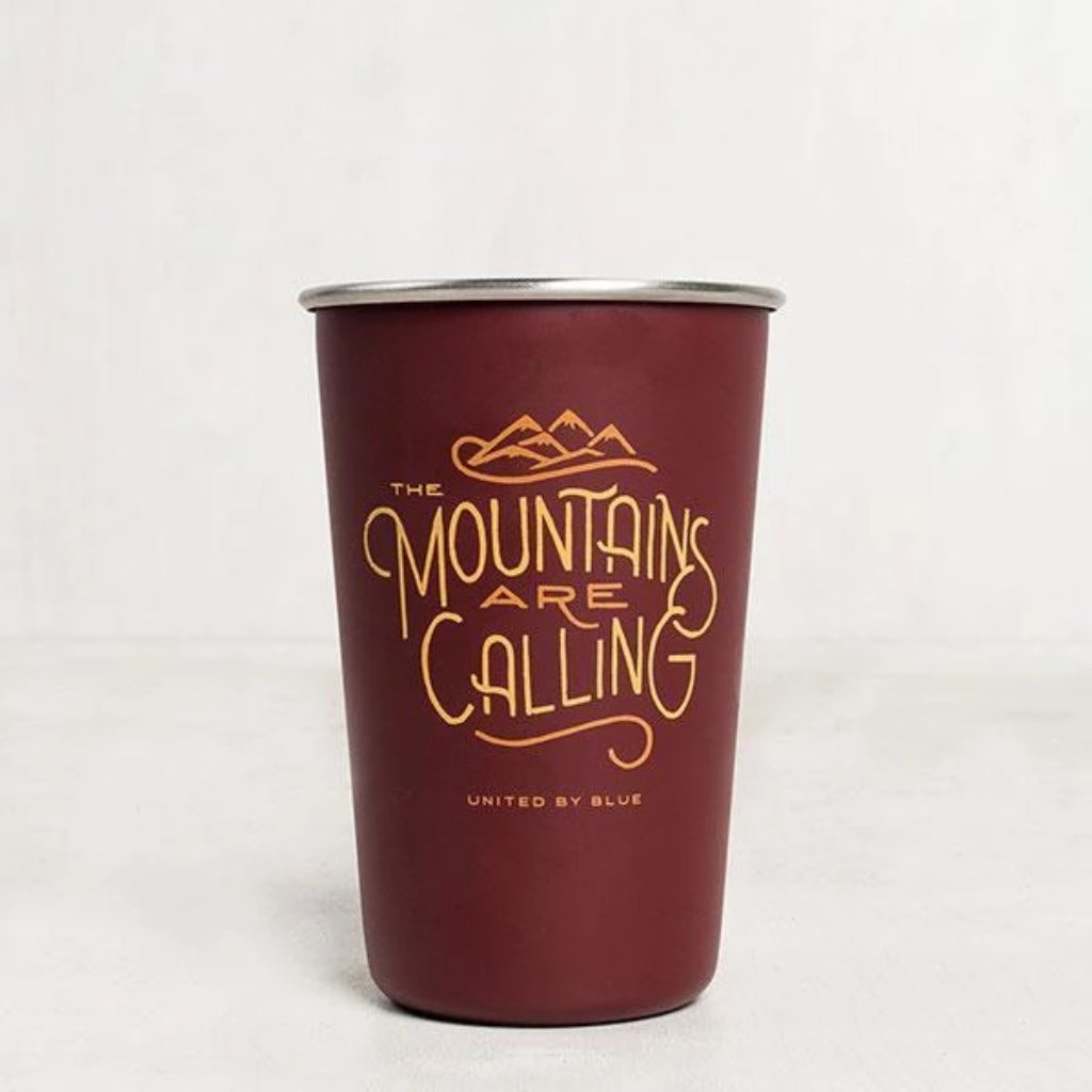 United By Blue » 16 oz Stainless Steel Tumbler - Mountains Are Calling
