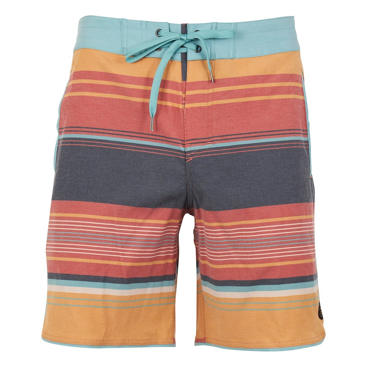 United By Blue | Men's Boardshorts | Seabed Scallop Board Shorts | Canyon Orange
