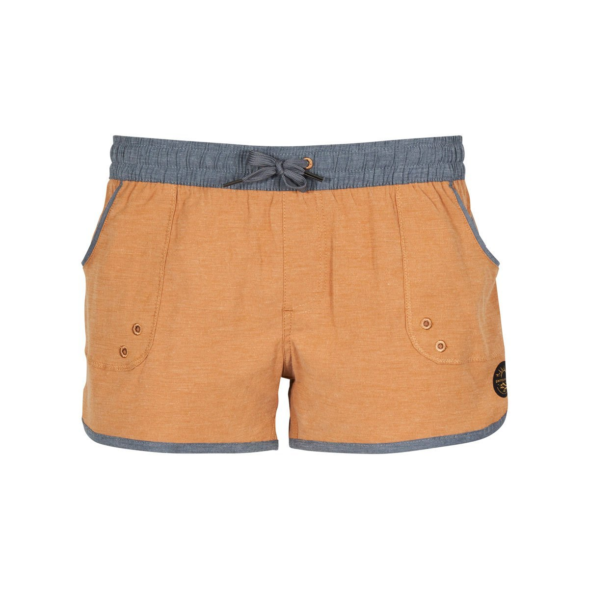 United By Blue | Women's Classic Board Shorts | Harvest Gold, Orange