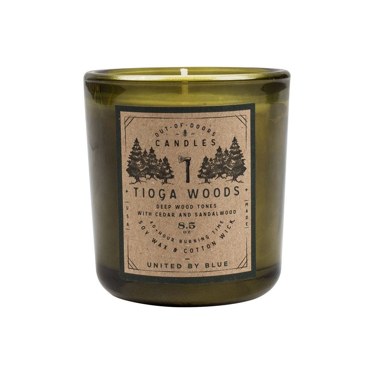 United By Blue | Out-of-Doors Candle | Tioga Woods | Soy Wax Candle