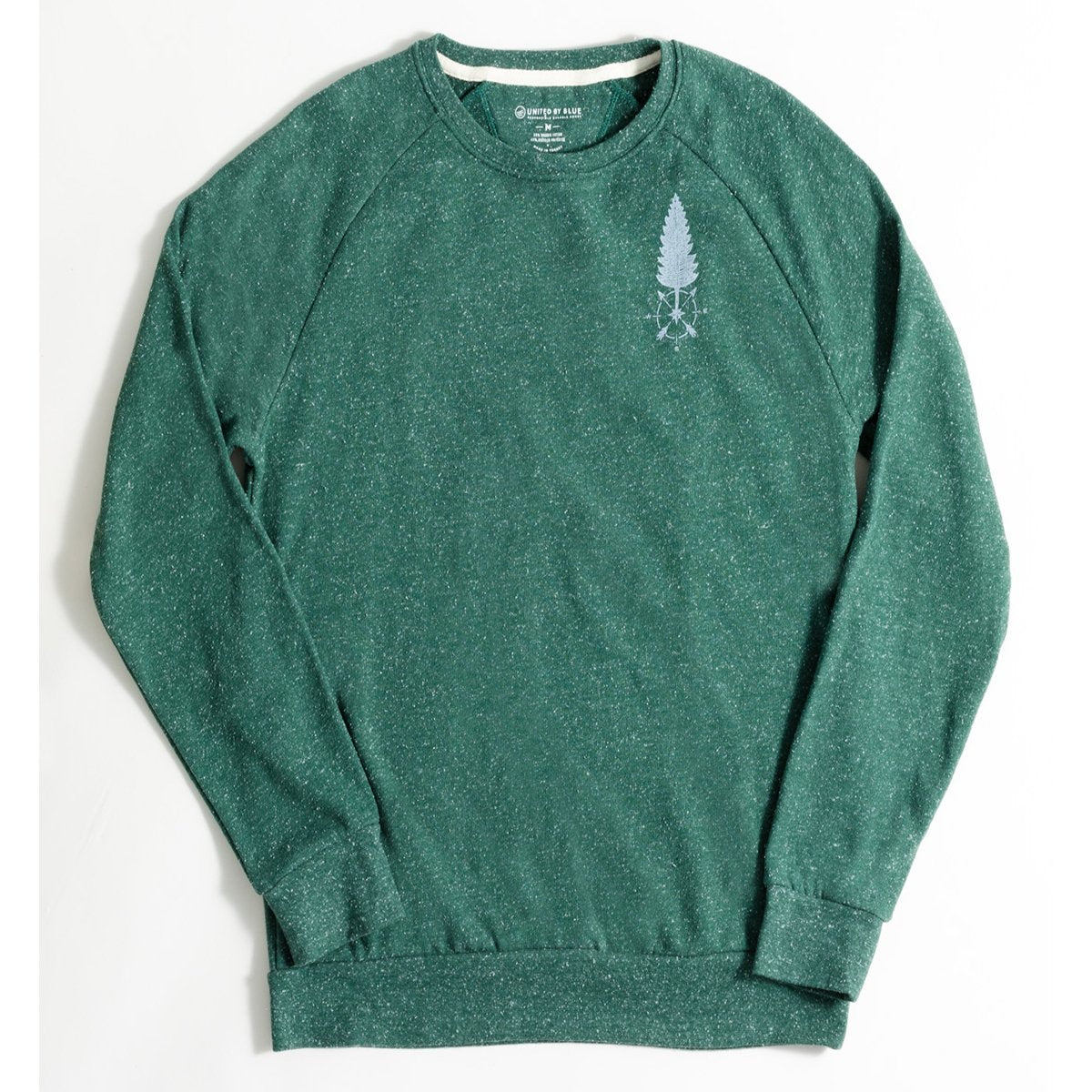 United By Blue | Womens Crew Jumper | Fleece Pullover | Stay True Crew Pullover | Pine Green