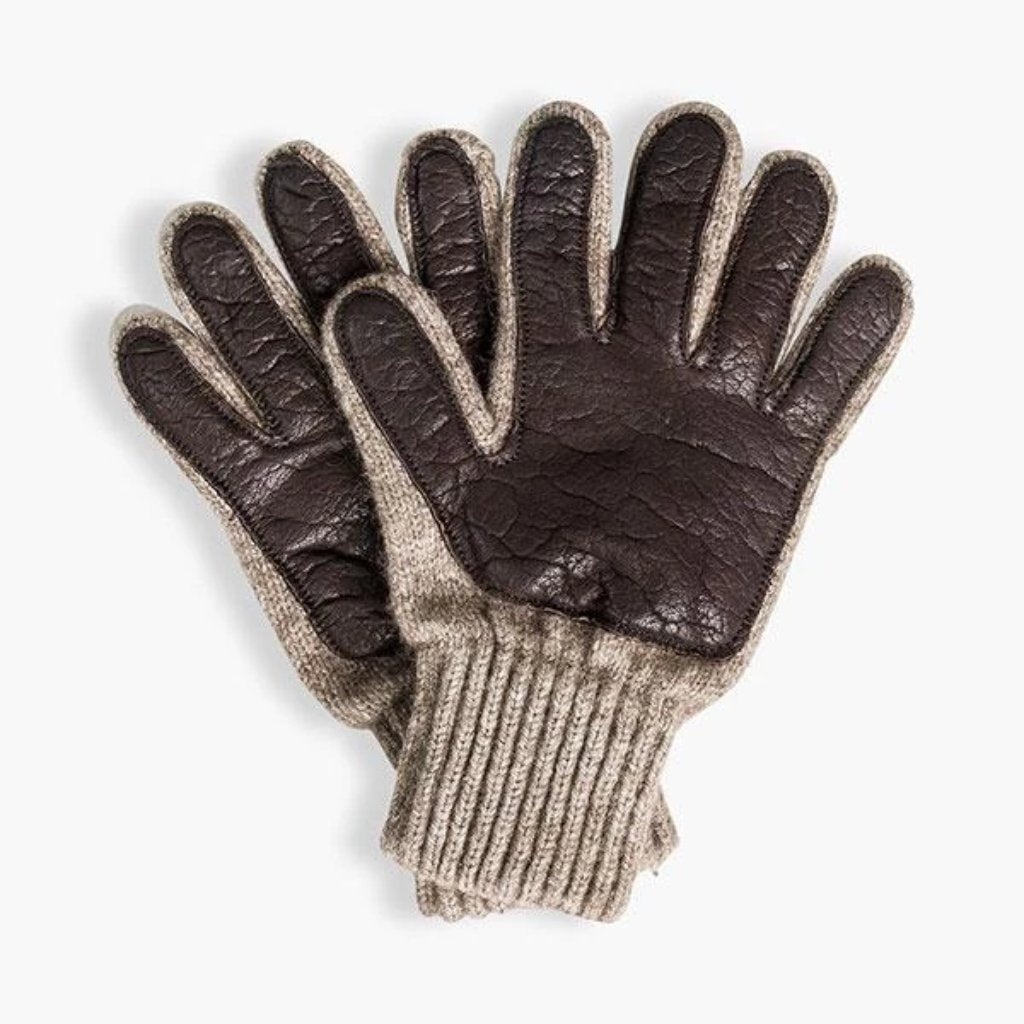United By Blue » Leather Palm Bison Gloves | Made in USA