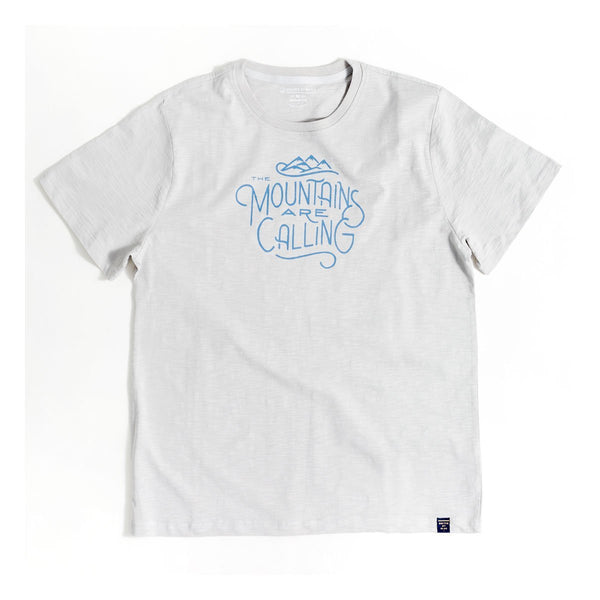 United By Blue | Men's Graphic T-Shirt | Organic Cotton | Mountains Are Calling - Grey