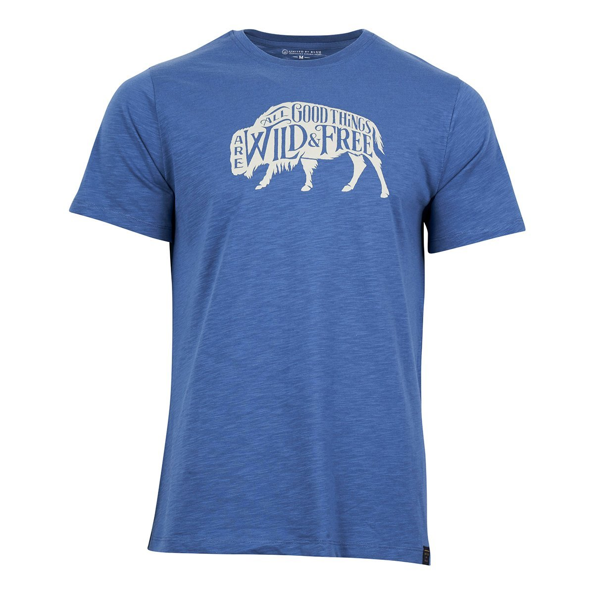 United By Blue | Men's Graphic T-Shirt | Organic Cotton T-Shirt | Wild & Free - Blue