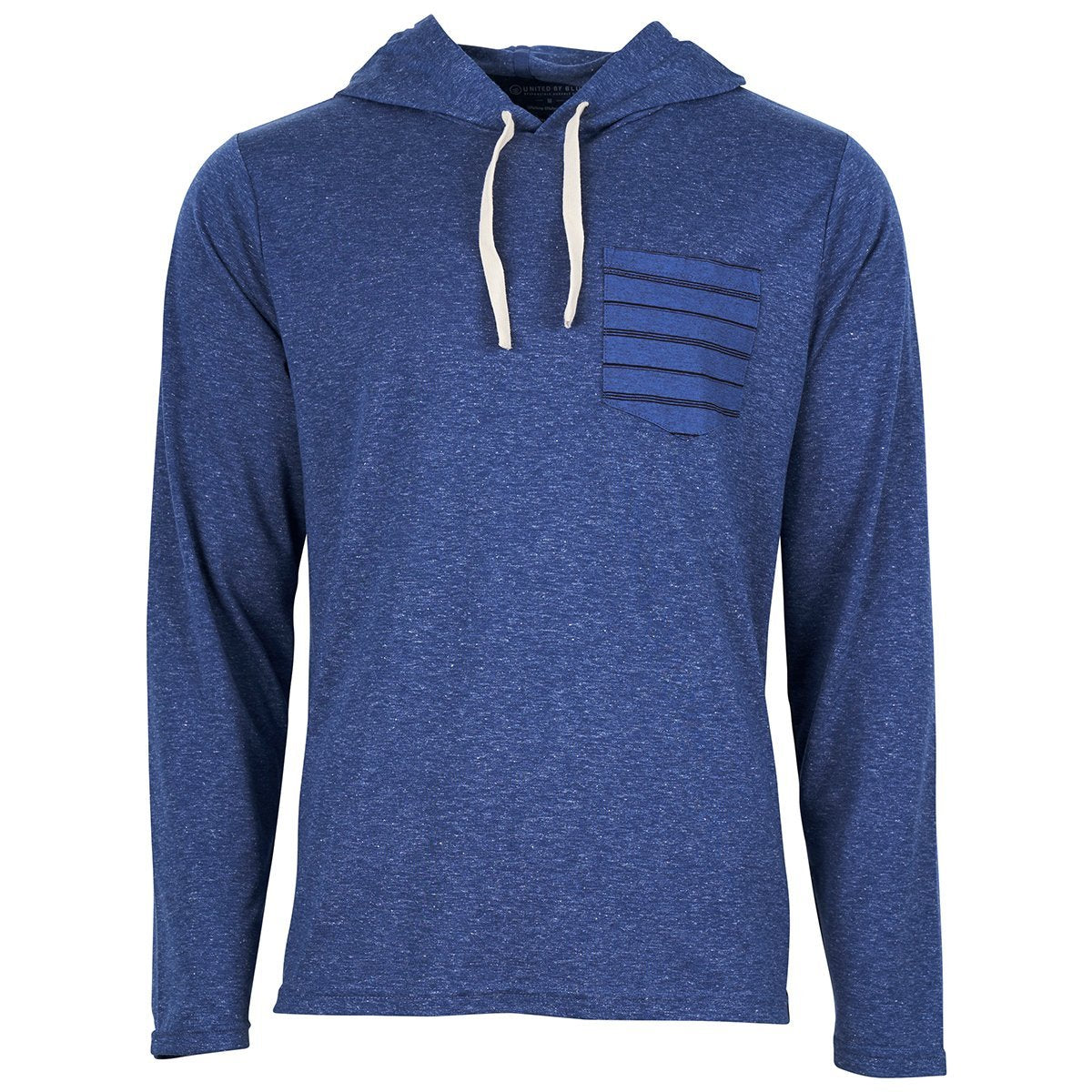 United By Blue | Men's Hooded T-Shirt | Long Sleeve Pocket T-Shirt | Lightweight Patrol Hoodie | Midnight