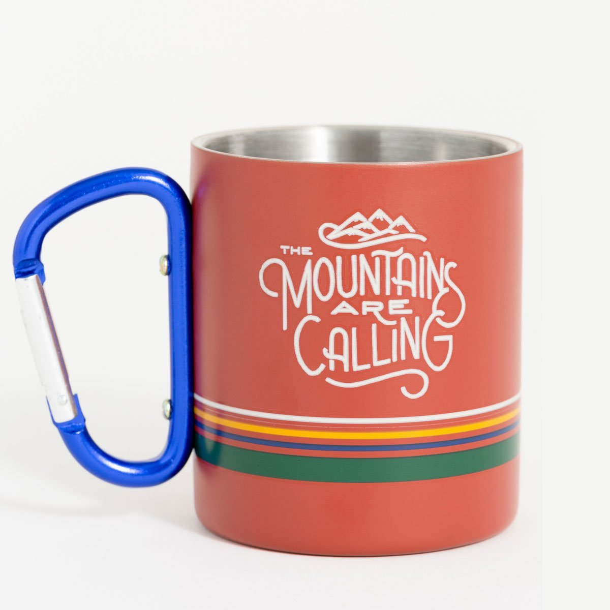 United By Blue | Stainless Steel Carabiner Cup | Mountains Are Calling