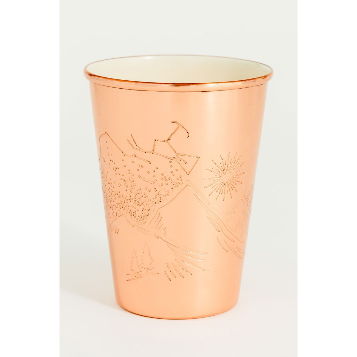 16 oz Enamel Lined Copper Tumbler