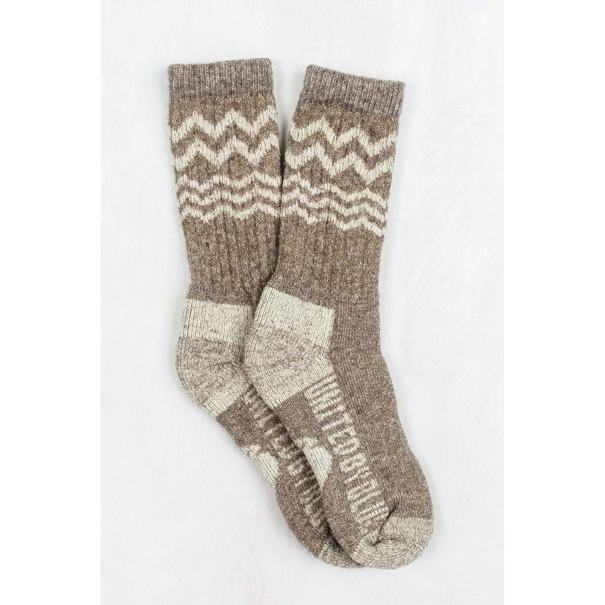 United By Blue | Ultimate Bison Sock | Bison Down Socks | Made in USA | Brown, natural, white