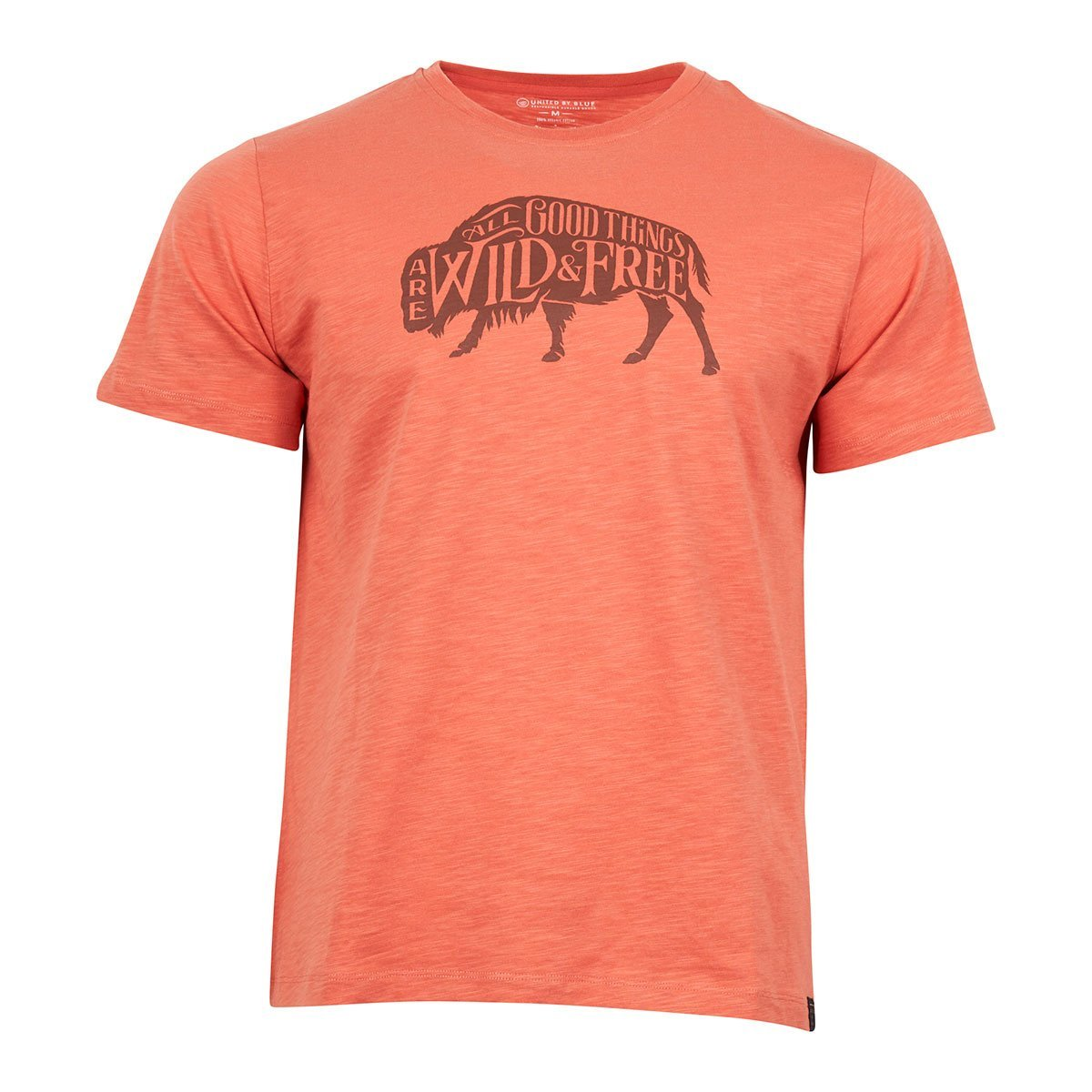 United By Blue | Men's Graphic T-Shirt | Organic Cotton | Wild & Free - Canyon Orange