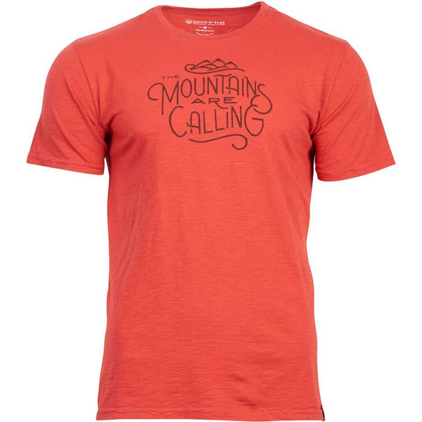 United By Blue | Men's Graphic T-Shirt | Organic Cotton T-Shirt | Mountains Are Calling | Red