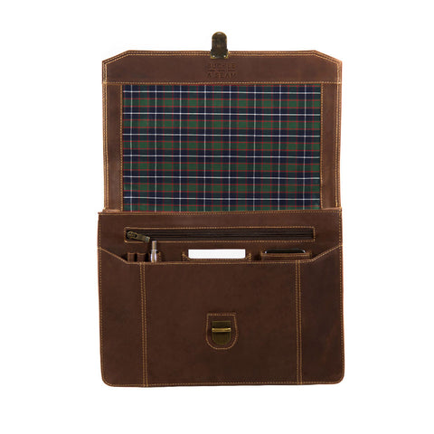 Cara checked open BuckleandSeam vintage vegetable tanned leather messenger bag buy online