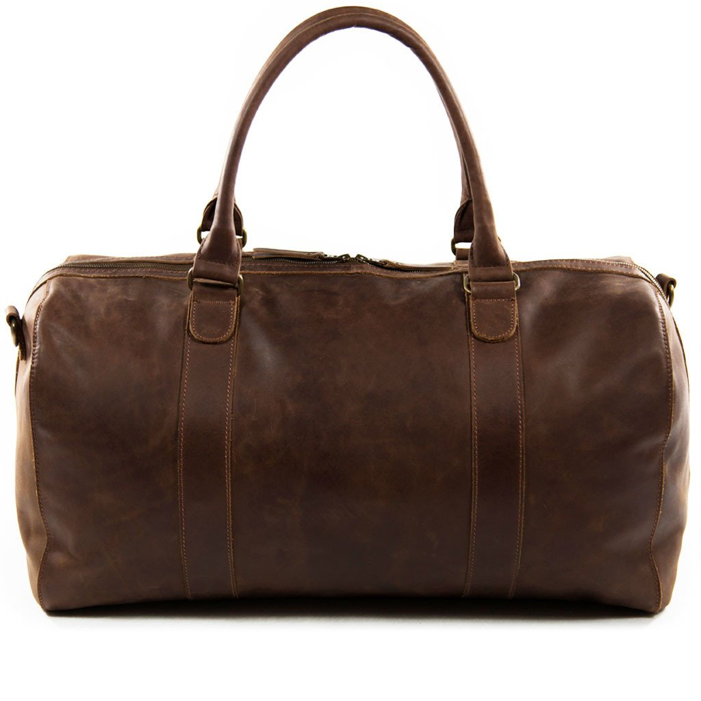 Willow backview BuckleandSeam vintage vegetable tanned leather duffle bag buy online