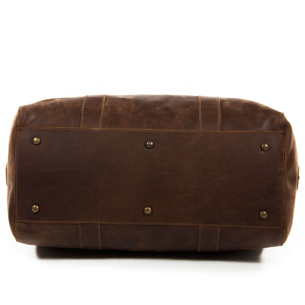 Willow below BuckleandSeam vintage vegetable tanned leather duffle bag buy online