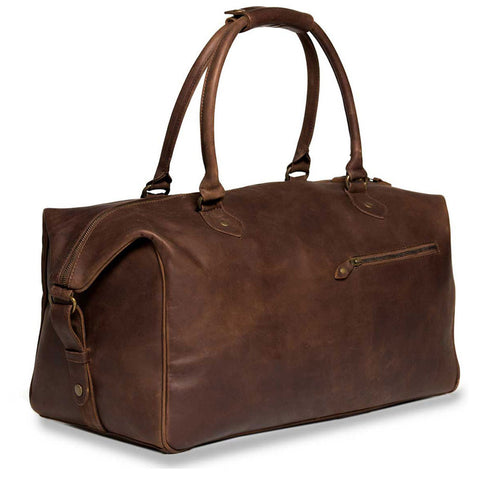 Linwood sideview strap BuckleandSeam vintage vegetable tanned leather weekender bag buy online