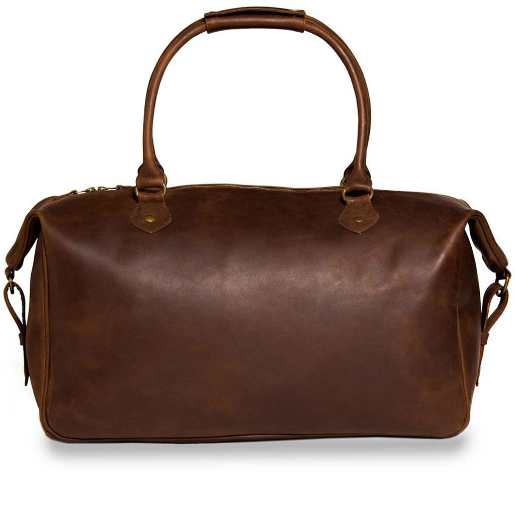 Lindwood back BuckleandSeam vintage vegetable tanned leather weekender bag buy online