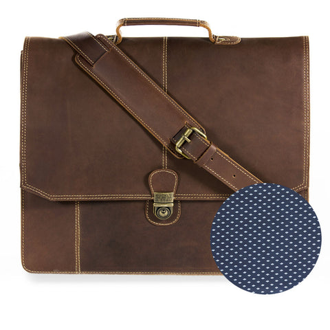 "Sierra embossing front BuckleandSeam vintage vegetable tanned leather messenger bag 15"" buy online"