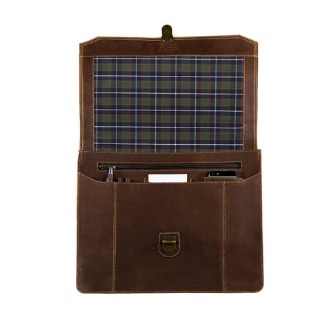 "Sierra checked open BuckleandSeam vintage vegetable tanned leather messenger bag 15"" buy online"