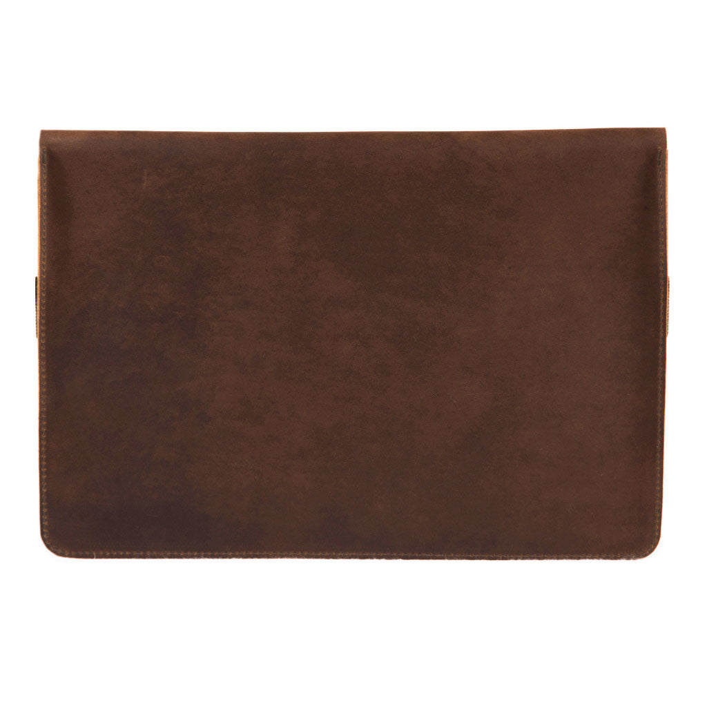 Terra 13 inch engraving BuckleandSeam vintage leather macbook sleeve buy online