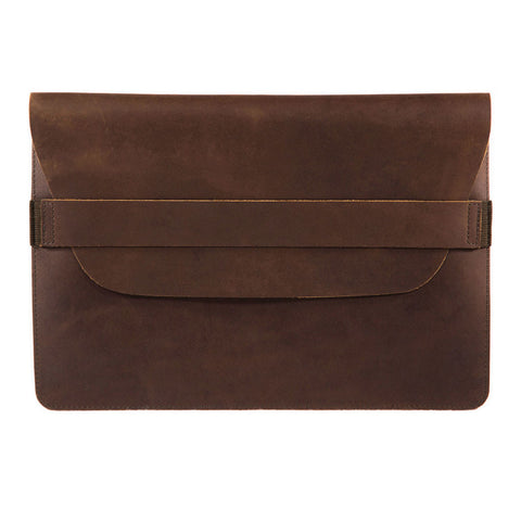 Terra 13 inch topview BuckleandSeam vintage leather macbook sleeve buy online