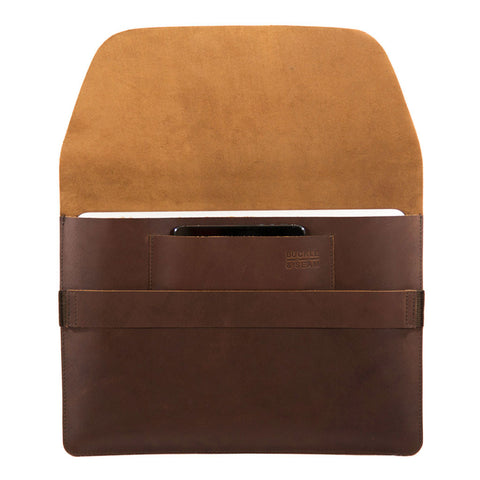 Terra 13 inch openview BuckleandSeam vintage leather macbook sleeve buy online