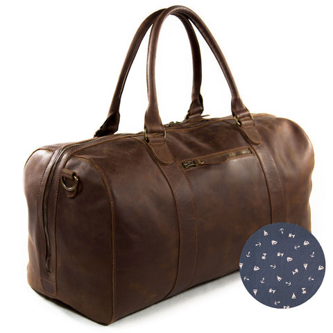 Duffel willow buckleandseam blue anchor print