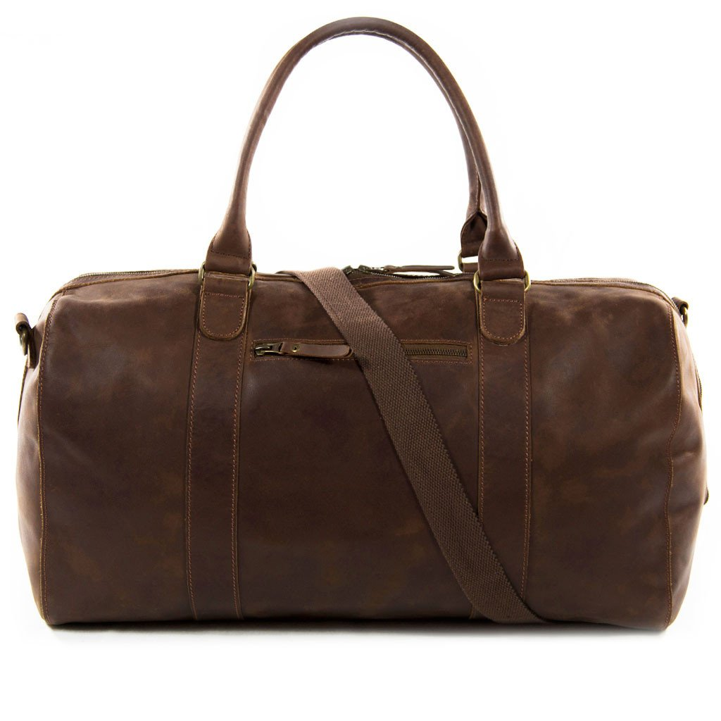 Willow front shoulder strap BuckleandSeam vintage vegetable tanned leather duffle bag buy online