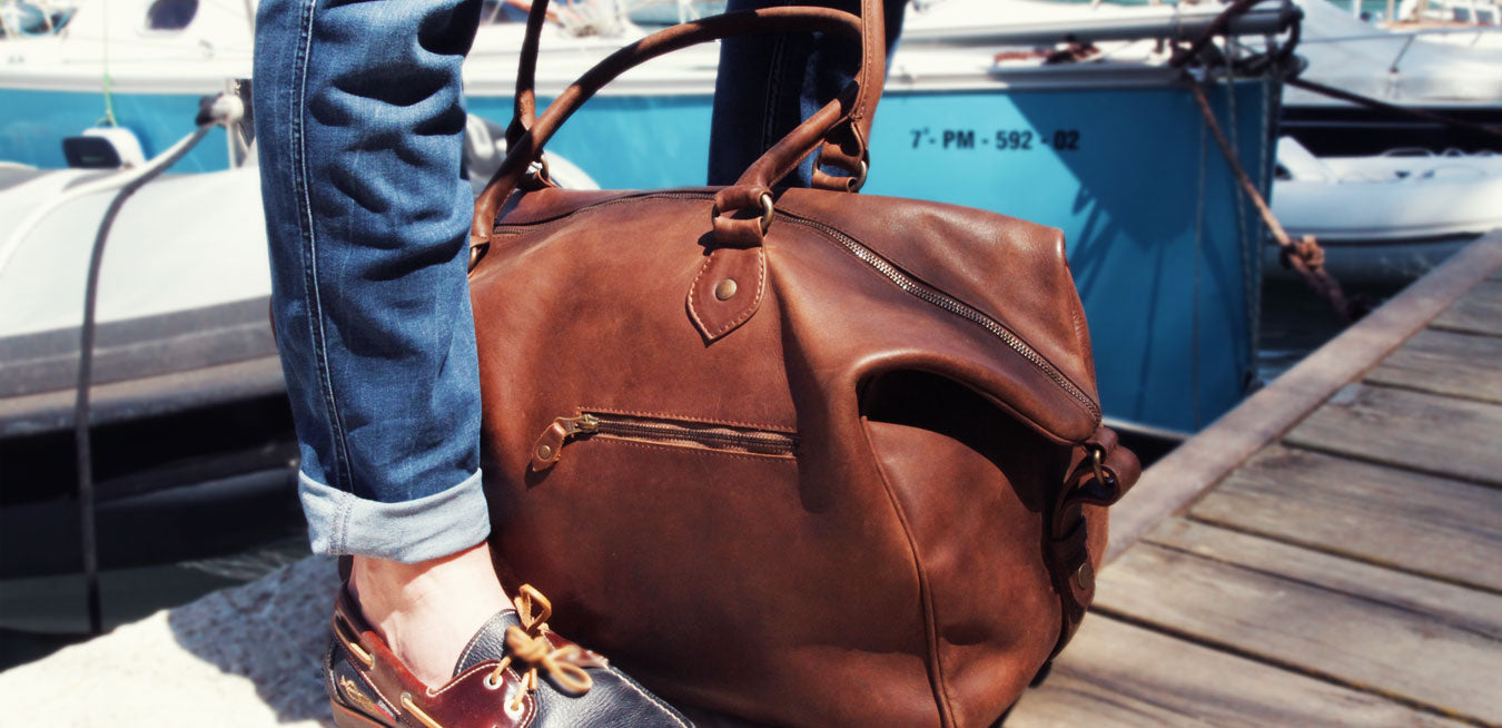 Buckle & Seam weekender leather bag