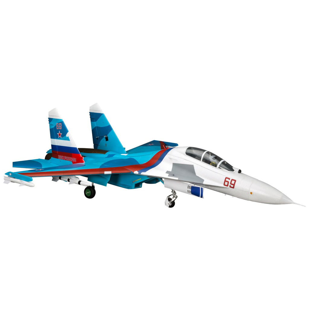 Eflite SU-30 jet Twin 70mm EDF BNF Basic with AS3X & SAFE Select, 1100mm