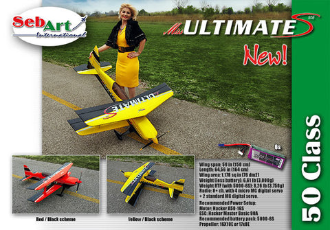 PROMO Sebart Miss Ultimate 50E S Yellow/black  ARF