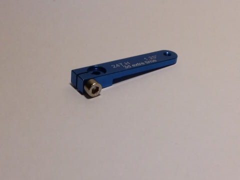 "1,25"" aluminium servo arm 24T for Hitec (Blue color)"