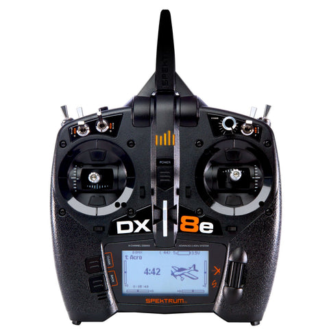 Spektrum DX8e 8 Channel System DSMX (only Radio) Mode-2