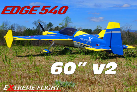 "Extreme Flight Edge 540 EXP V2 60"" Yellow/Blue scheme  - ARF"