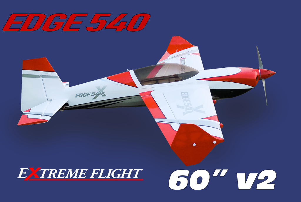 "Extreme Flight Edge 540 EXP V2 60"" Red/White scheme  - ARF"