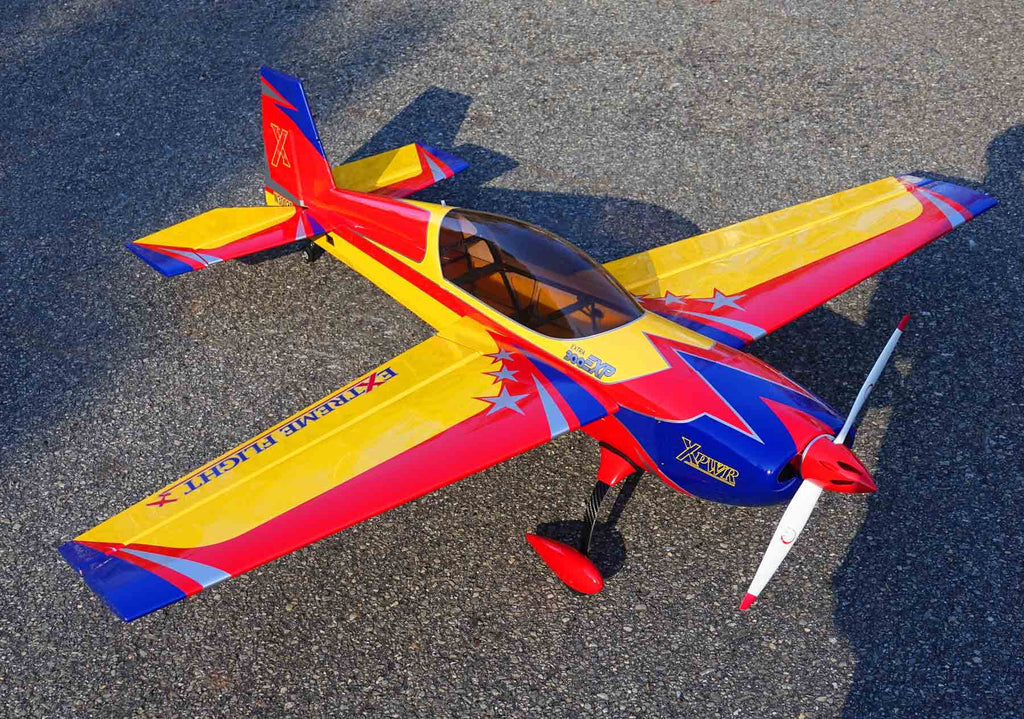 "Extreme Flight 60"" Extra 300 V2 yellow/red /blue scheme - ARF"