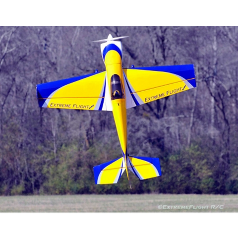 "Extreme Flight 60"" Laser V2 yellow - blue - white scheme - ARF"