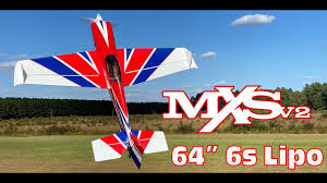 "Extreme Flight 64"" MXS  V2 red - Blue - white scheme - ARF"