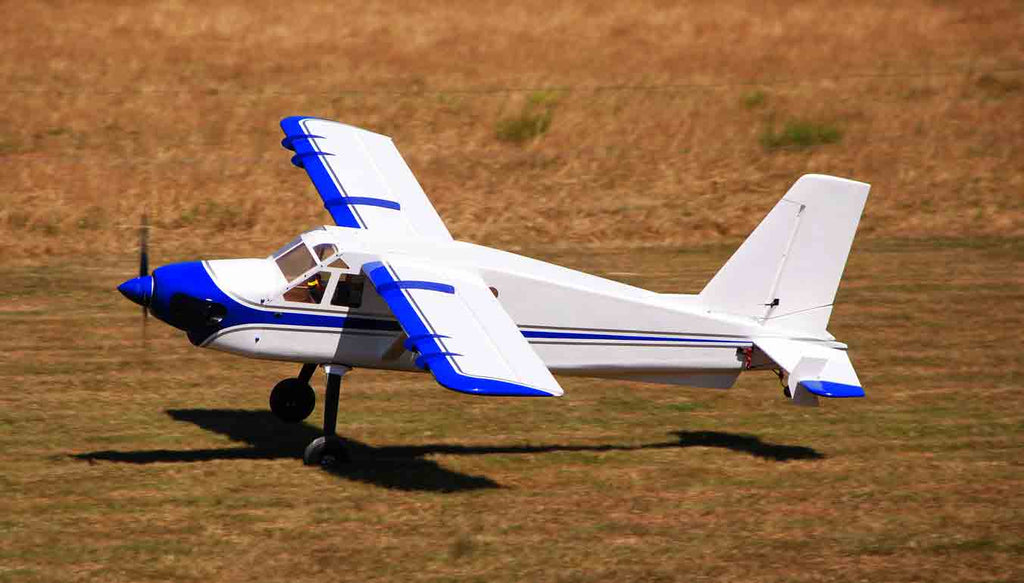 "Legacy Aviation 120"" Turbo Bushmaster - white/blue scheme - ARF"