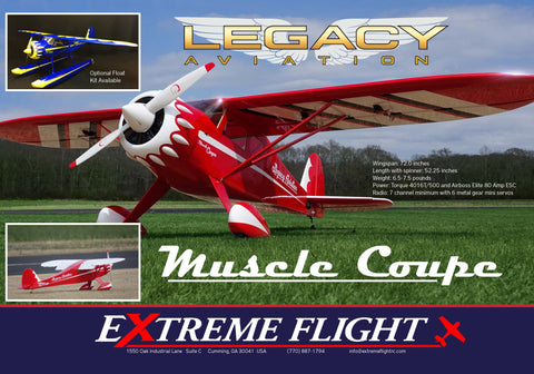 "Legacy Aviation 72"" Muscle Coupe  Red/white scheme - ARF"